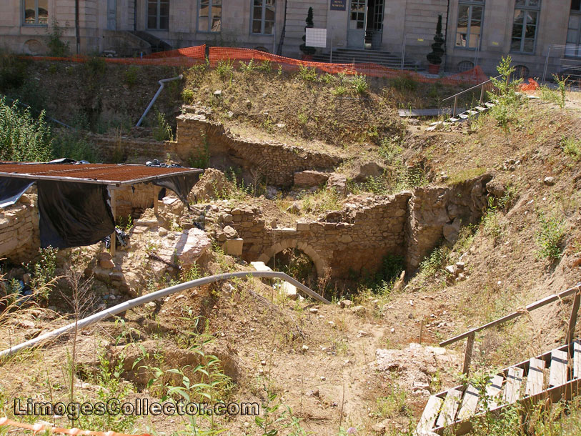 Excavation at Saint Etienne Cathedral in Limoges France