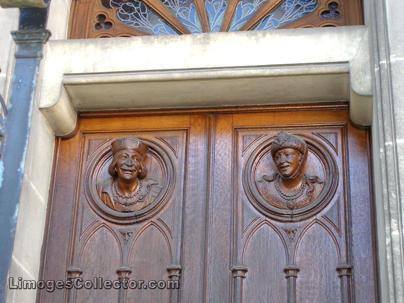 Carved doors, Limoges, France