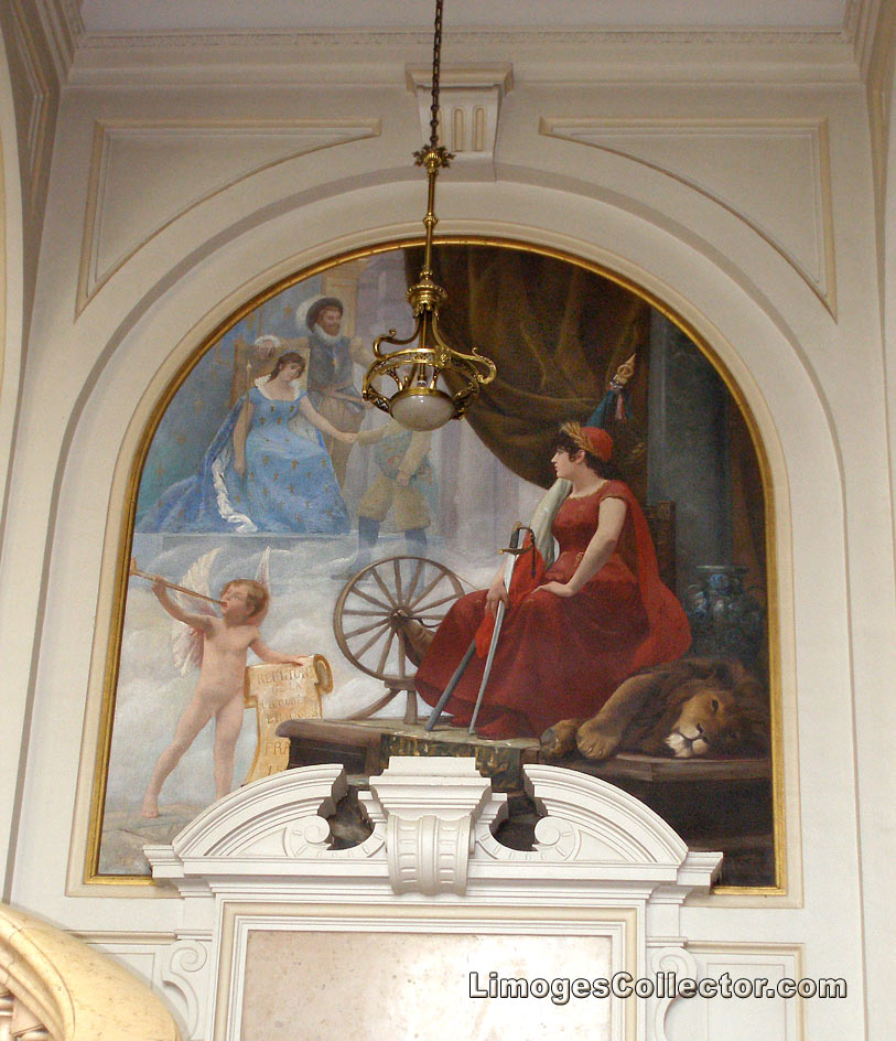 Painting inside the City Hall, Limoges, France