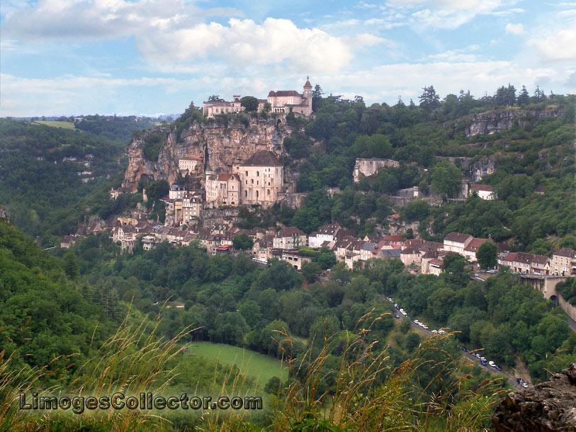 Cliffside village of Rocamadour near Limoges France