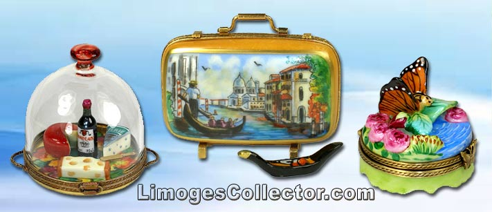 A variety of Limoges boxes from LimogesCollector.com