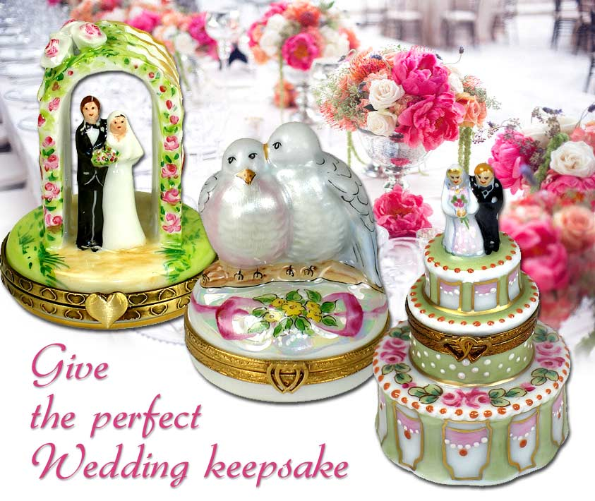 Wedding event keepsake Limoges Box Gifts from LimogesCollector.com